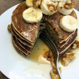 Five Ingredient Easy Vegan Pancakes