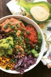 Quinoa Chipotle Bowl With Southwest Tahini Sauce