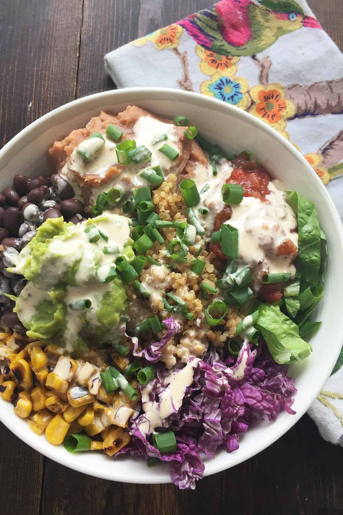 Quinoa Chipotle Bowl With Southwest Tahini Sauce