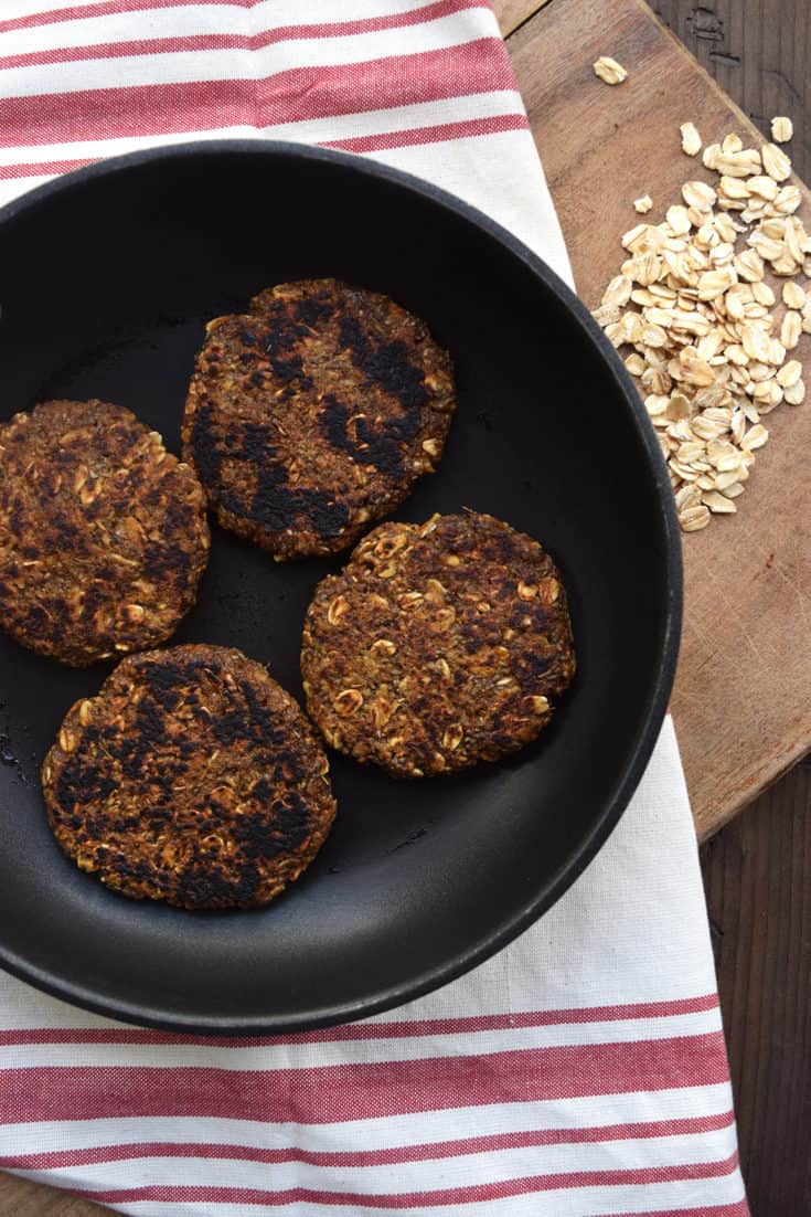 Spicy Vegan Breakfast Sausage Patties