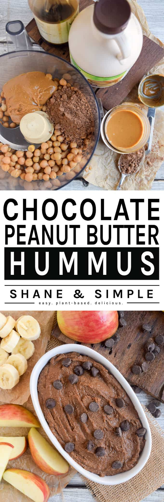 Chocolate Peanut Butter Hummus