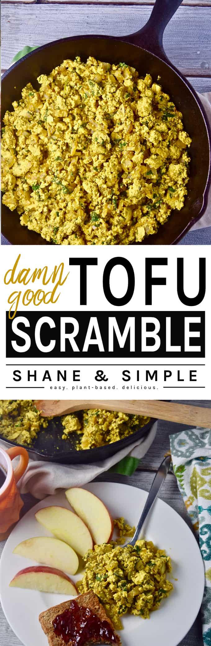 Damn Good Tofu Scramble