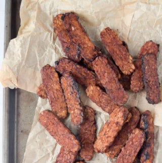 Smoky Maple Tempeh Bacon