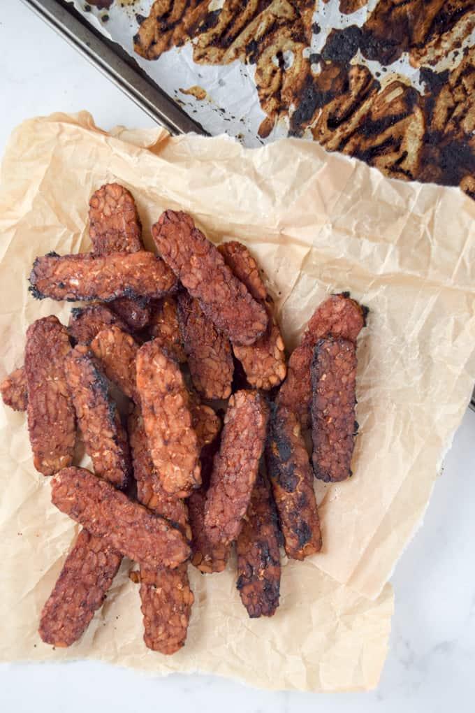 Smoky Maple Tempeh Bacon