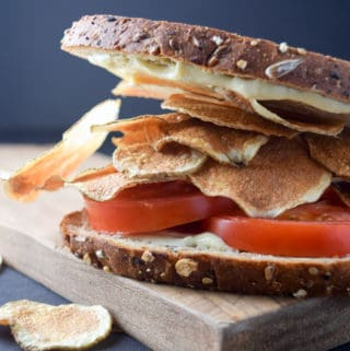Potato Chip Tomato Sandwich