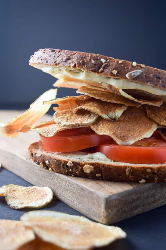 Potato Chip Tomato Sandwich
