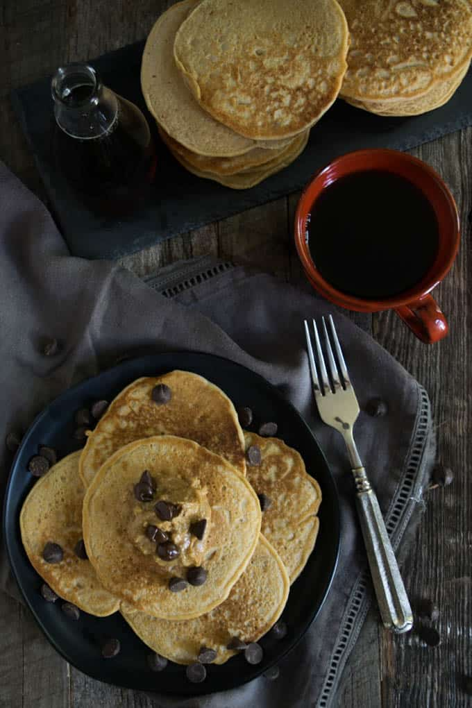 homemade peanut butter pancakes