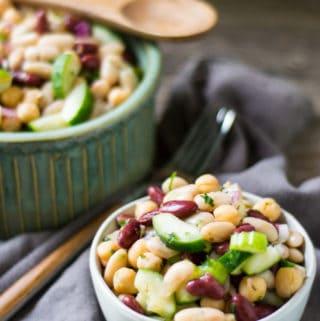 Three Bean Protein Summer Salad