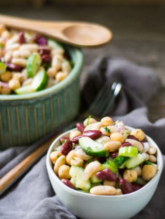 Three Bean Protein Summer Salad