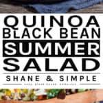 Quinoa Black Bean Summer Salad pinterest banner