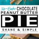Easy Vegan Chocolate Peanut Butter Pie Banner