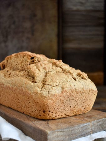 easy 5-ingredient whole wheat beer bread