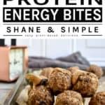 peanut butter protein energy bites pinterest banner
