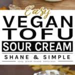 easy vegan tofu sour cream pinterest banner