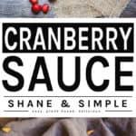 Cranberry sauce pinterest banner.