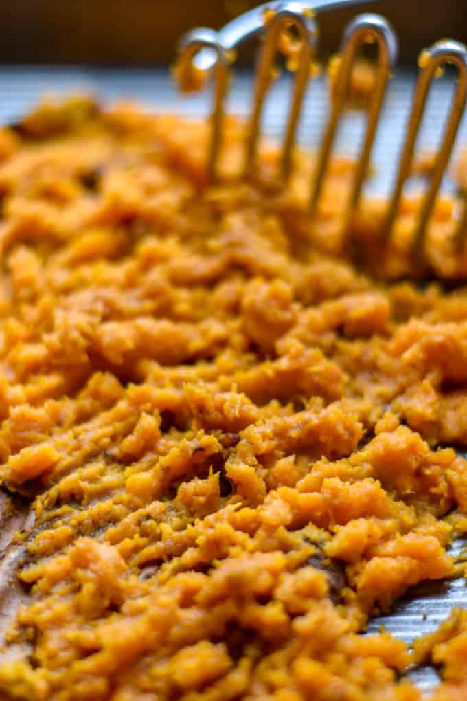 Vegan sweet potato shepherds pie mashed sweet potatoes.