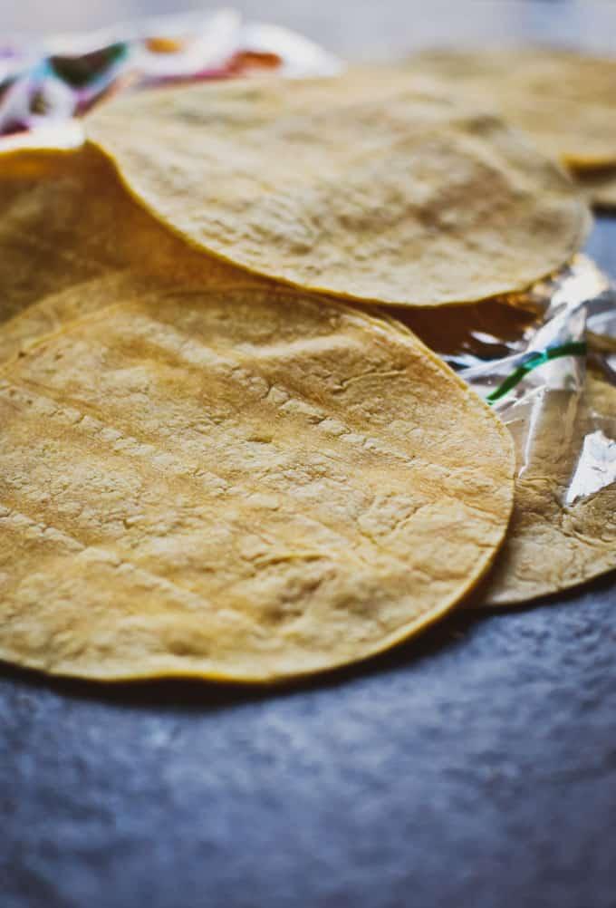 Crunchy baked taco shells plain tortillas.