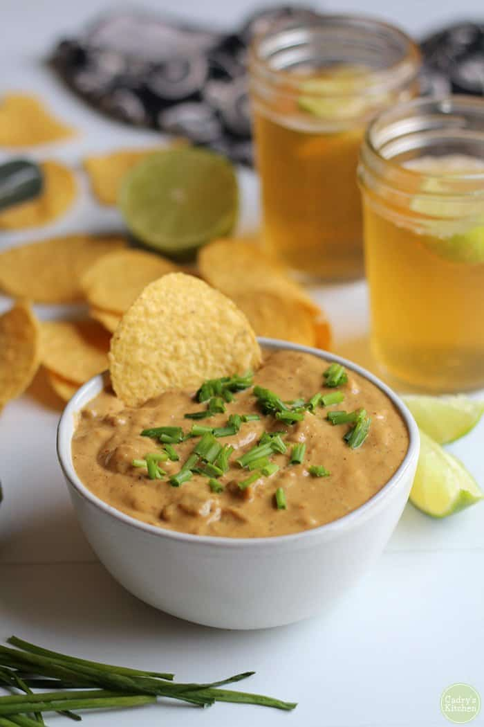 Vegan super bowl party foods best vegan chili cheese dip.