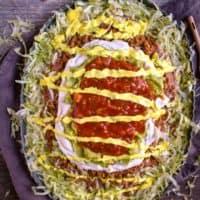 Mexican Seven Layer Bean Dip