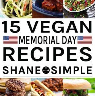 15 Vegan Memorial Day Recipes banner.