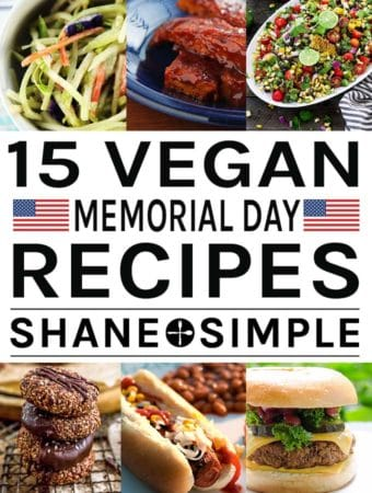 15 Vegan Memorial Day Recipes banner.