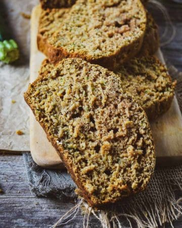 Vegan zucchini bread slice