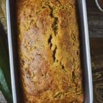 Vegan zucchini bread in loaf pan