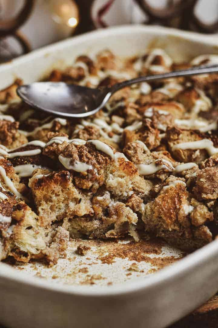 French toast casserole with empty space.