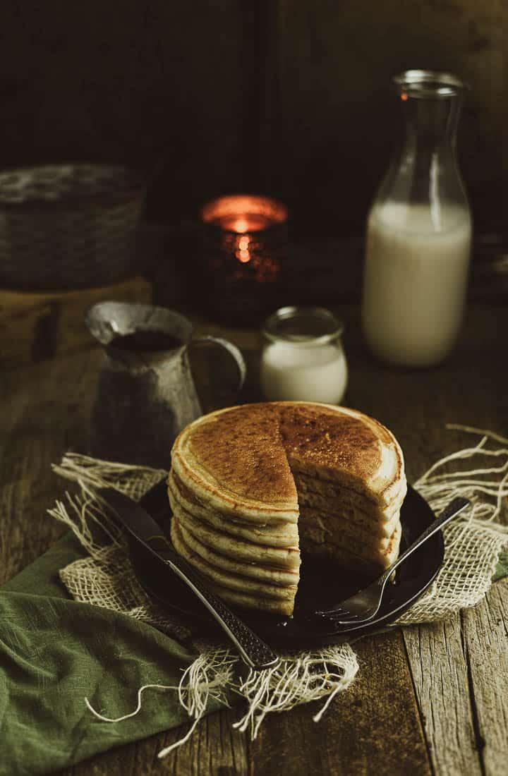 The Best Fluffy Vegan Pancakes