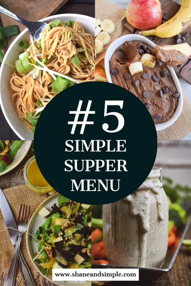 Simple Supper Menu #5