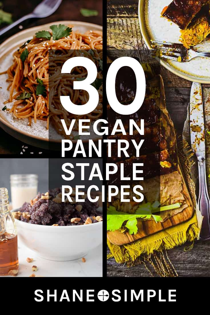 30 vegan pantry staple recipes pinteres banner.