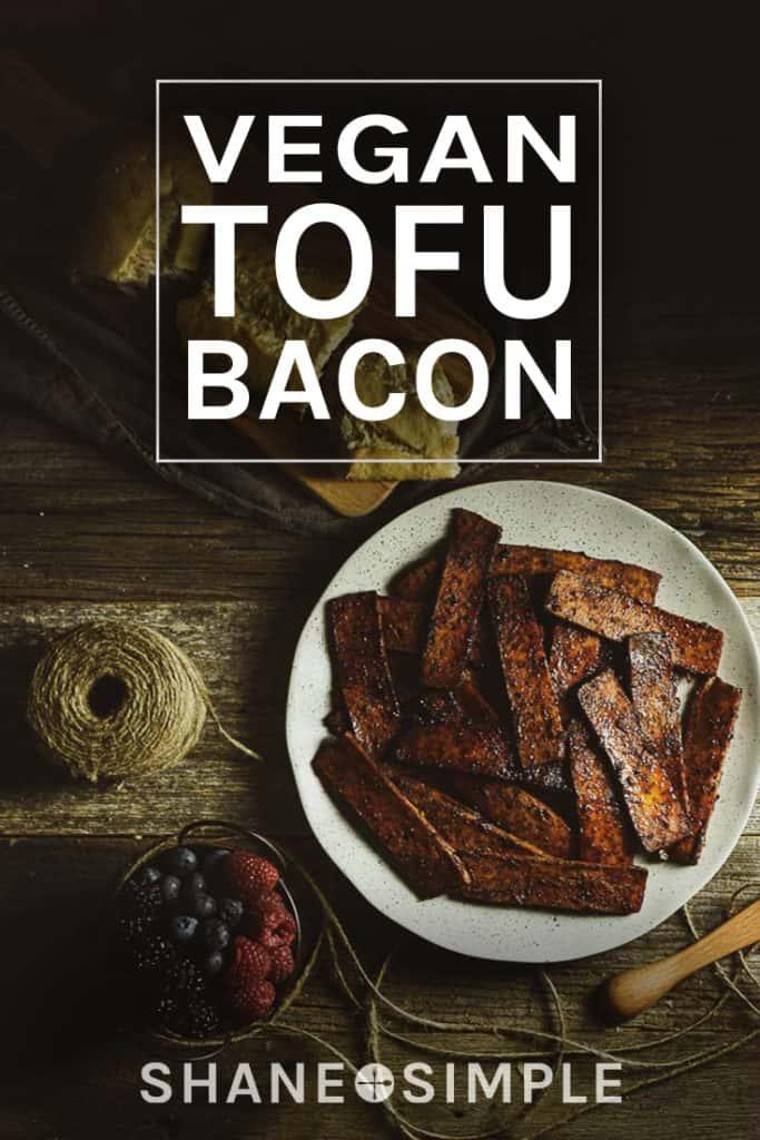 vegan tofu bacon pinterest banner