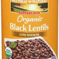 Westbrae Natural, Lentils Black Organic, 15 Ounce