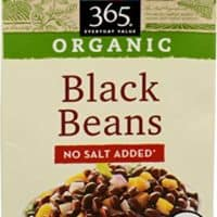 365 Everyday Value, Organic Black Beans, No Salt Added, 13.4 oz