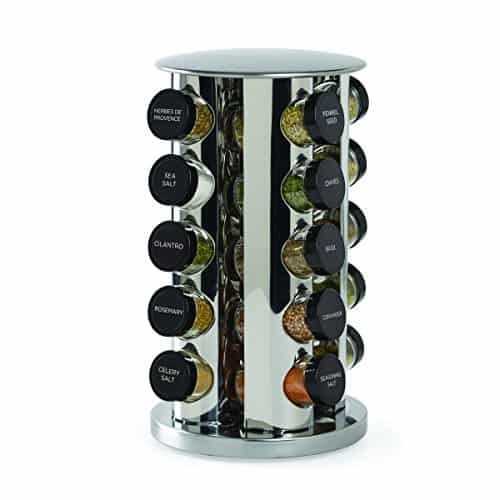 20-Jar Countertop Spice Rack Tower Organizer with Free Spice Refills for 5 Years