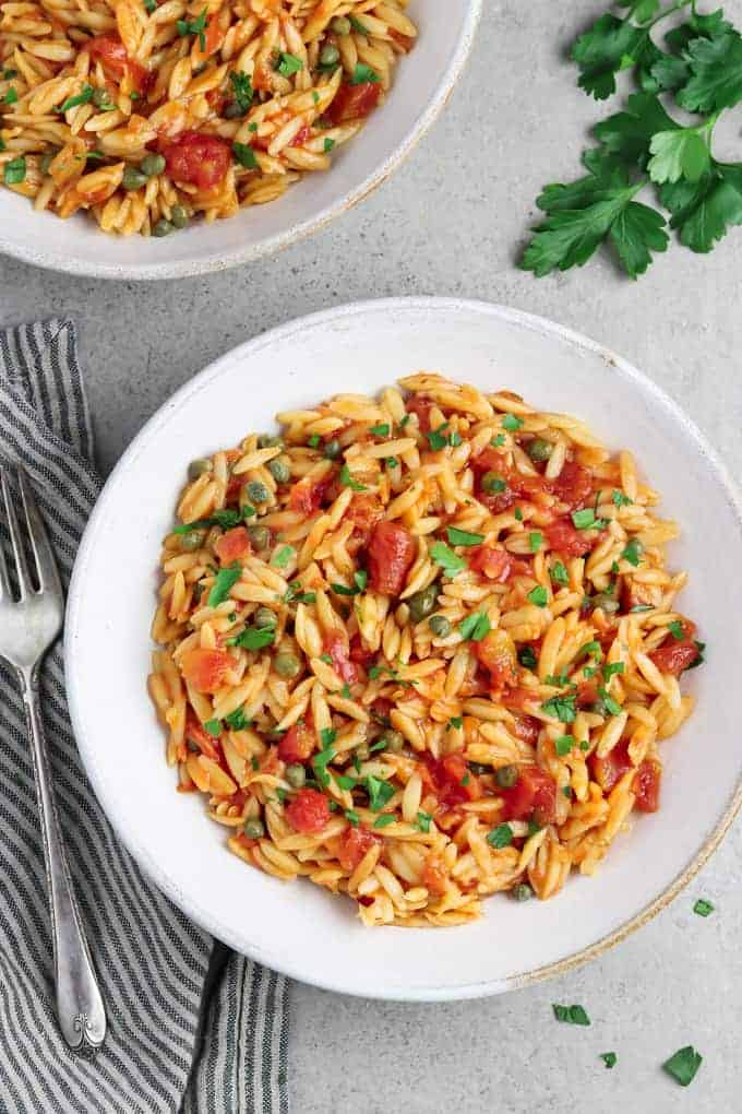 One Pot Basil and Tomato Orzo Recipe