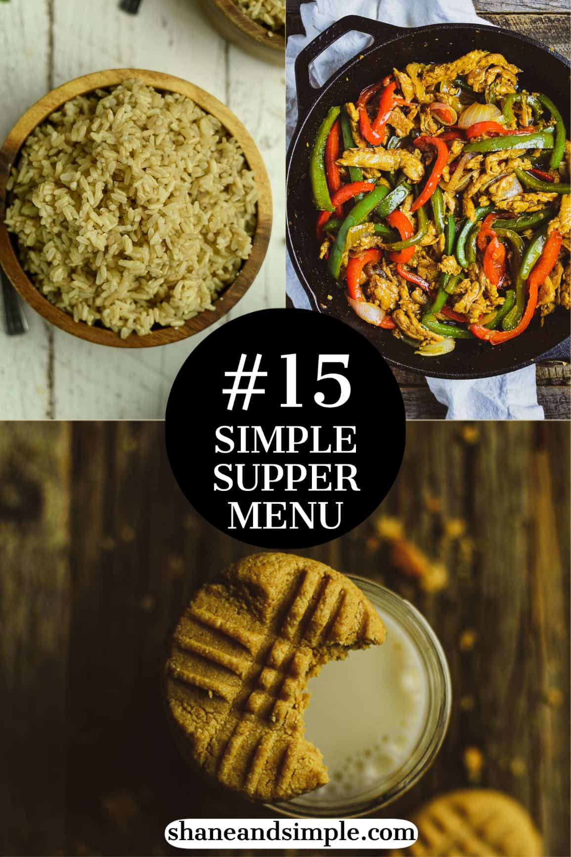 Simple supper menu 15 pinterest banner.