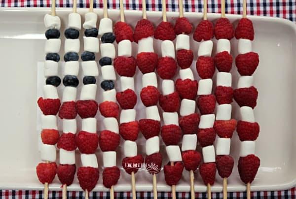 American Flag Fruit Skewer