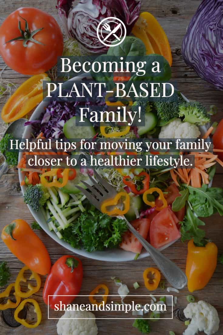 becoming a plant-based family pinterest banner