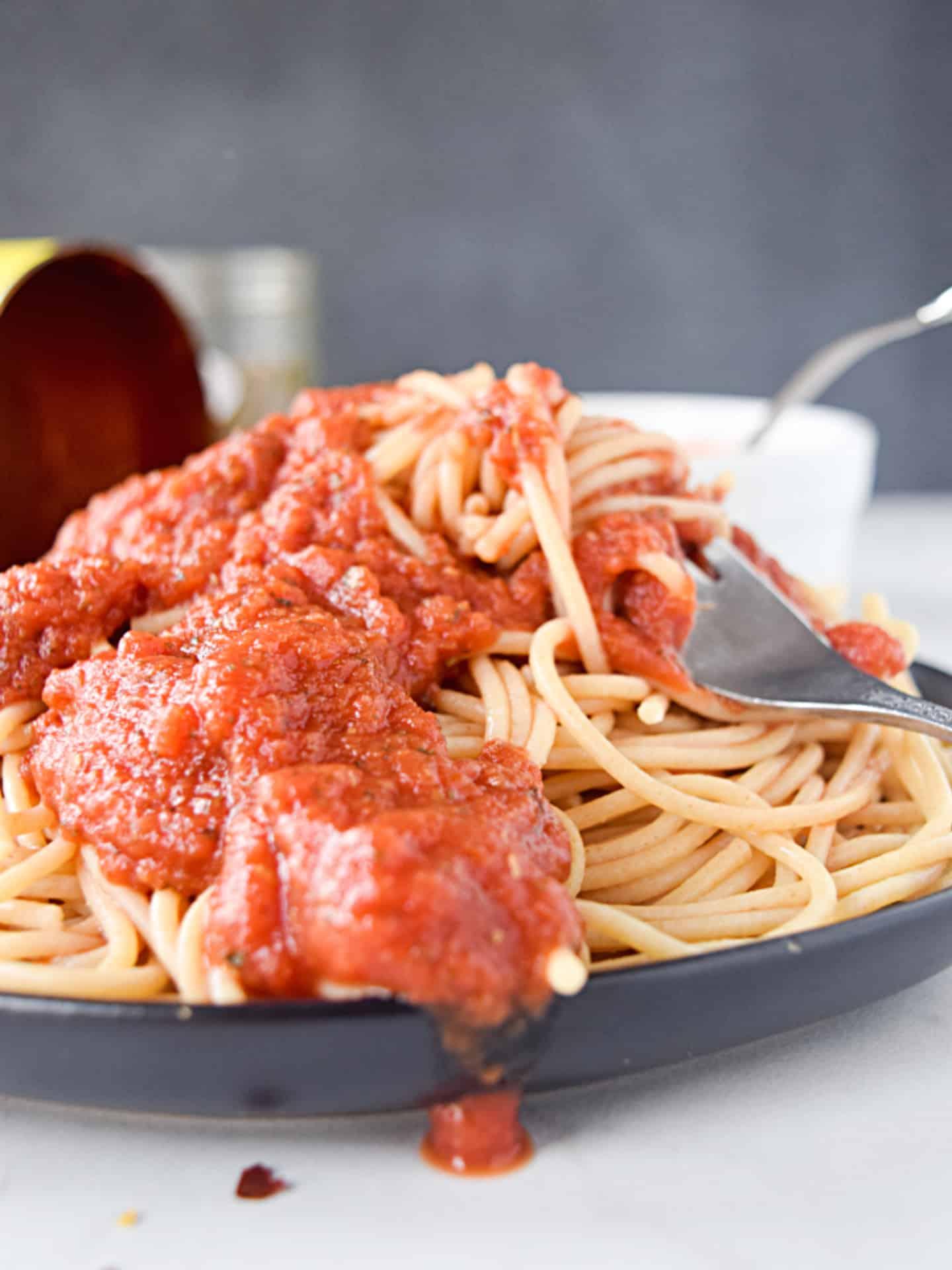 vegan marinara and pasta.