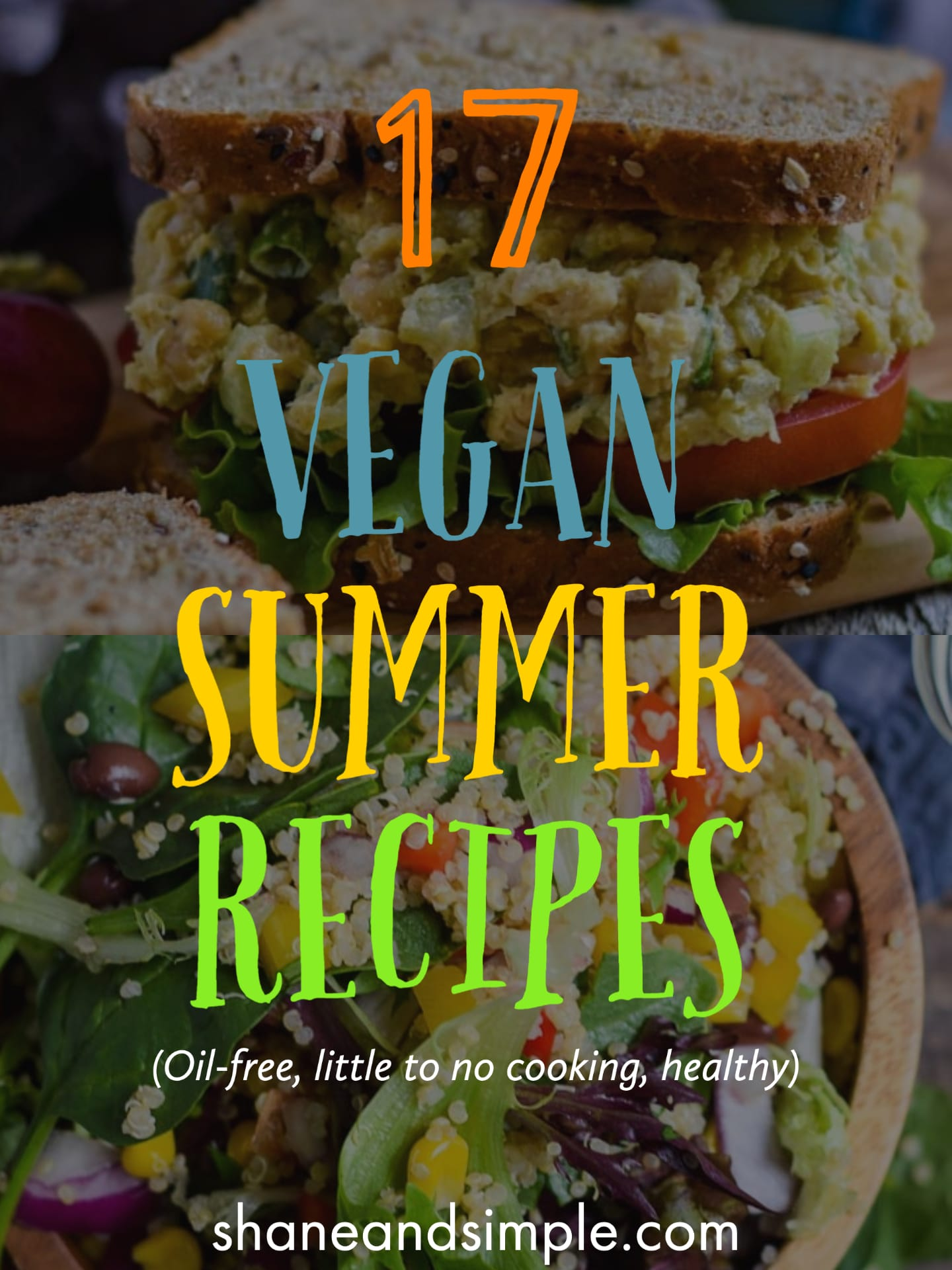 17 easy vegan recipes featured picture.