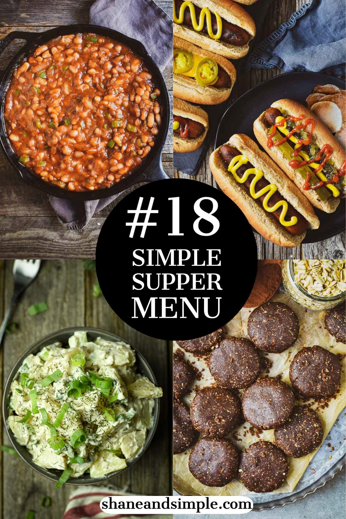 Simple Supper Menu #18 - Vegan Carrot Dogs