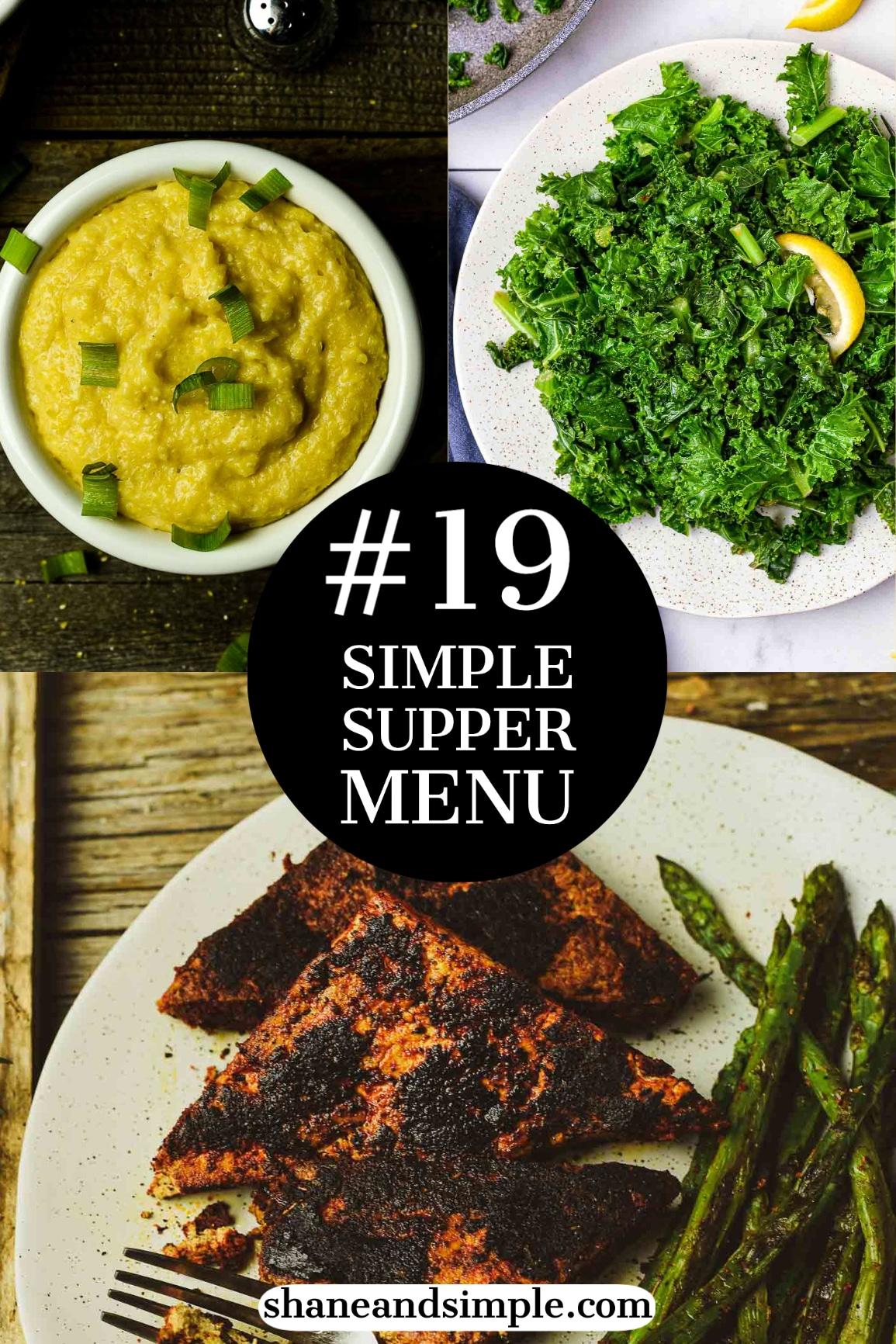 Simple Supper Menu #19