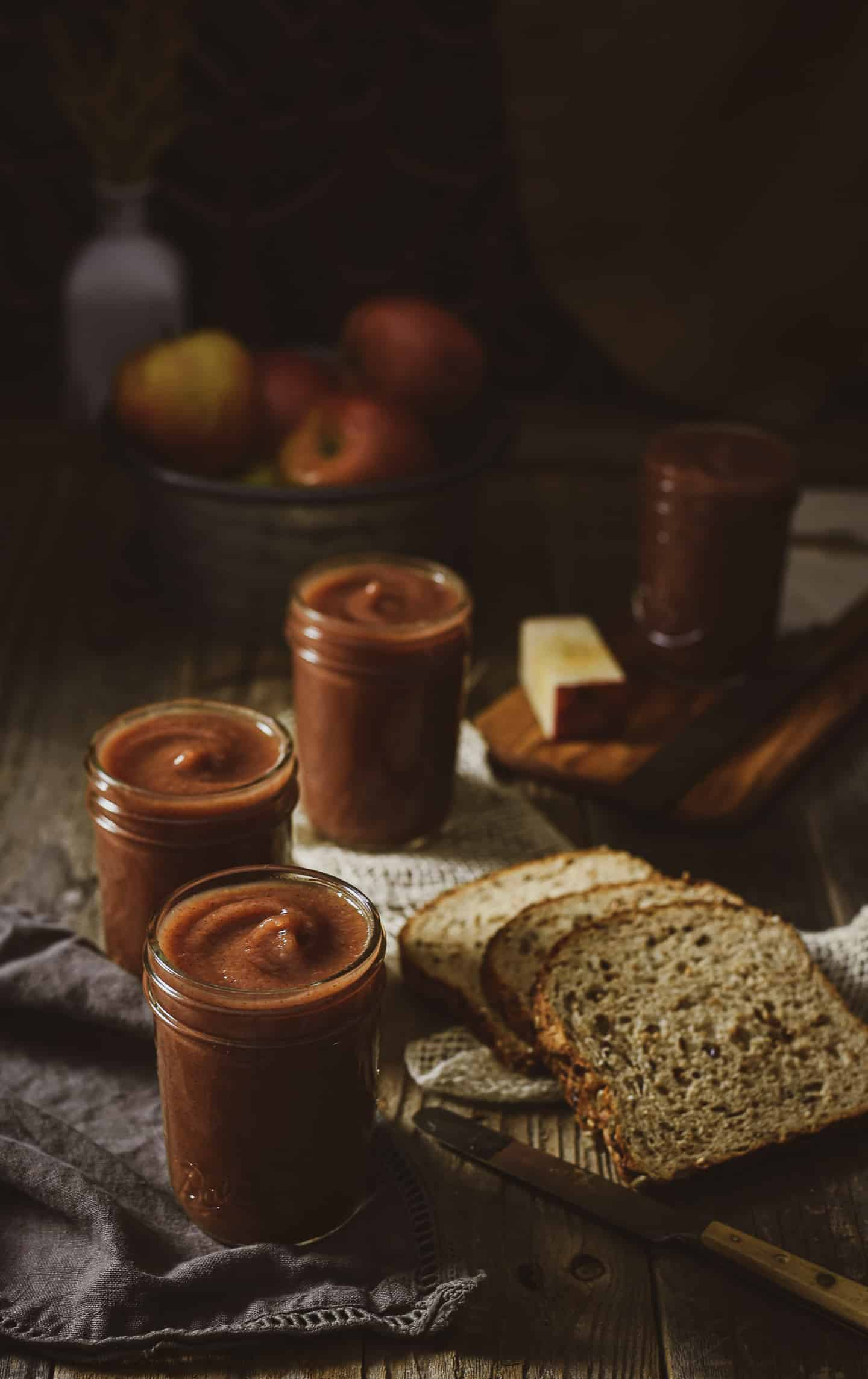 Instant Pot Apple Butter is so easy to make and ready in less than an hour using 5 simple ingredients. A deliciously warm spread, flavoring, or filling. You will never again want to buy apple butter at the store!