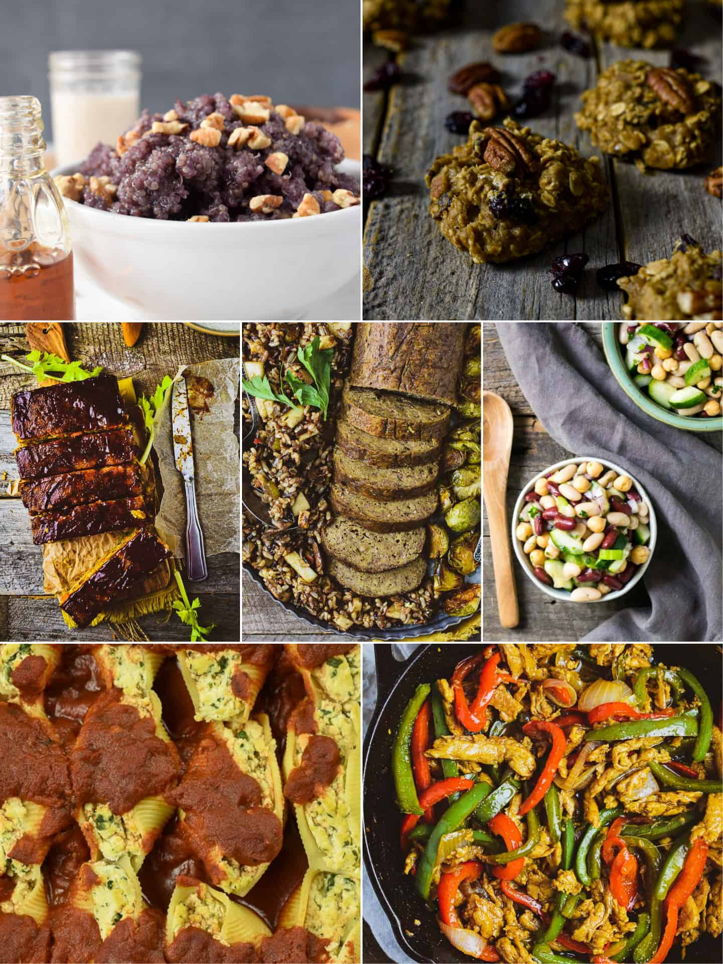 collage of different recipes