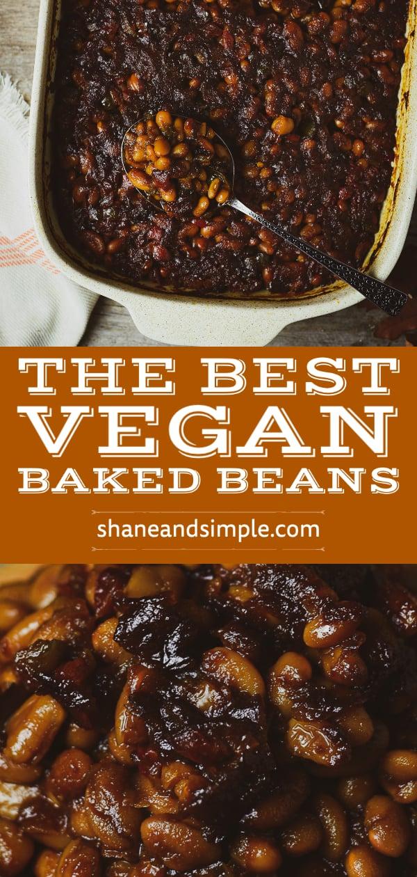 vegan baked beans pinterest post