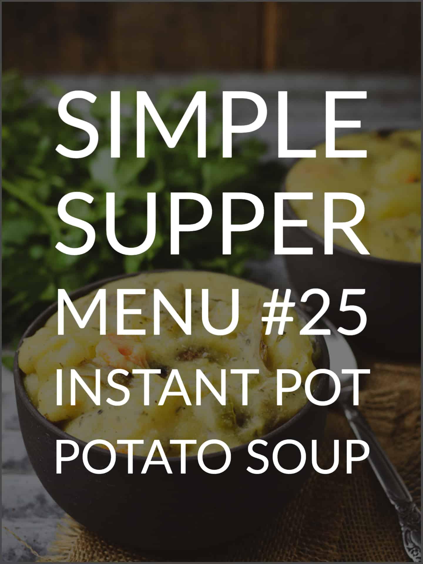 Bowl of potato soup.