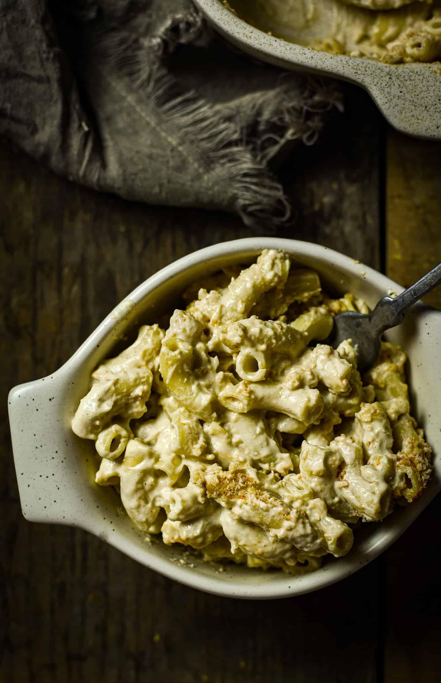 Bowl of macaroni and cheese.