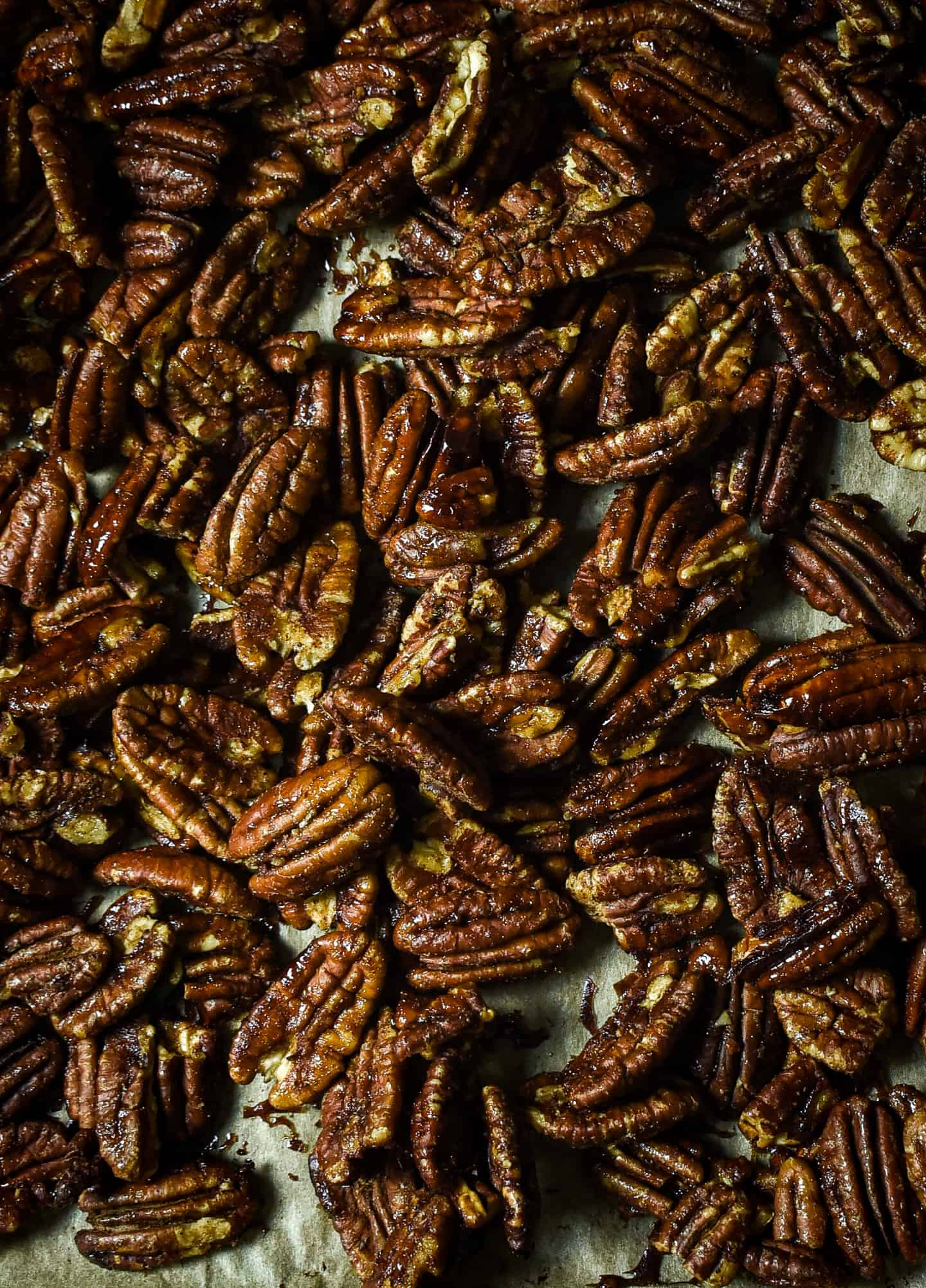 Roasted pecans.