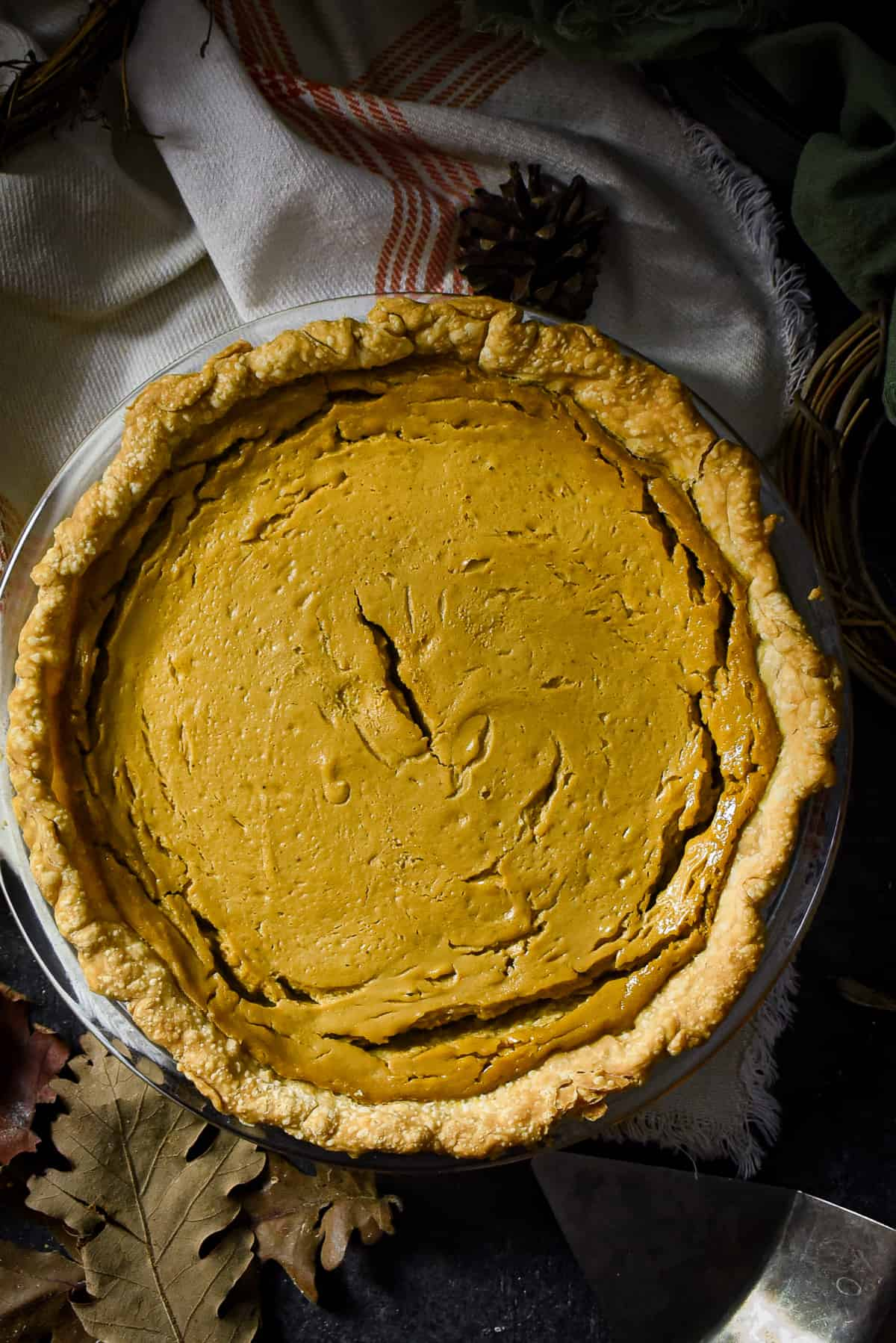 Vegan sweet potato pie.